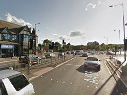 Serious collision closes busy Hagley Road, in Bearwood