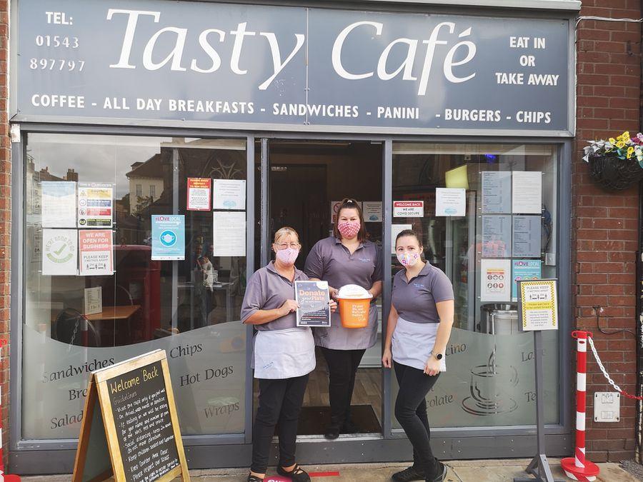Carol Blighton, Shona Oakley and Katie Blighton from Tasty Cafe