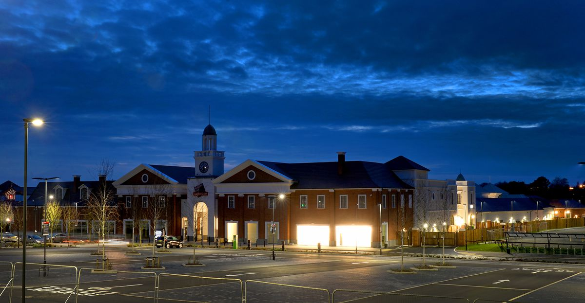 The lights are now on at the new designer outlet in Cannock