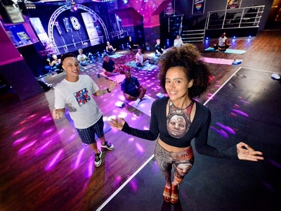Game of Thrones star leads yoga class in Wolverhampton