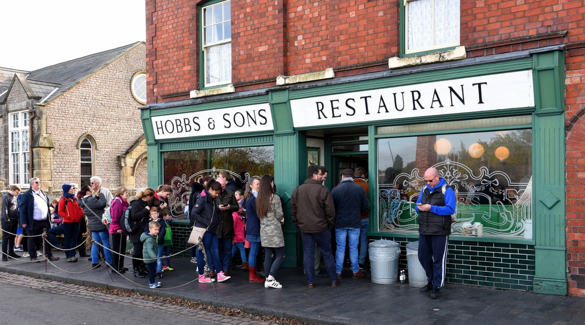 There's always a queue at the popular chip shop