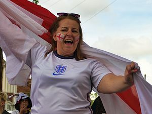 John Anthony Hodges sent these photos of England fans wishing the team well in Wednesfield