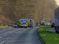 Motorcyclist airlifted after collision on Cannock Chase
