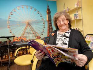 Marion Jones, aged 91, is first in line for Valley Court Care Home's new hair salon when it can open in June