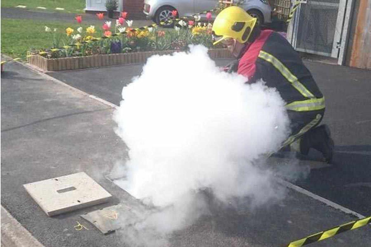 Firefighters tackle Brierley Hill underground blaze