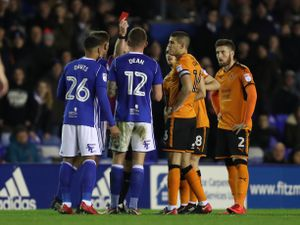 Red cards are becoming a common sight in Wolves games of late. (AMA/Sam Bagnall)