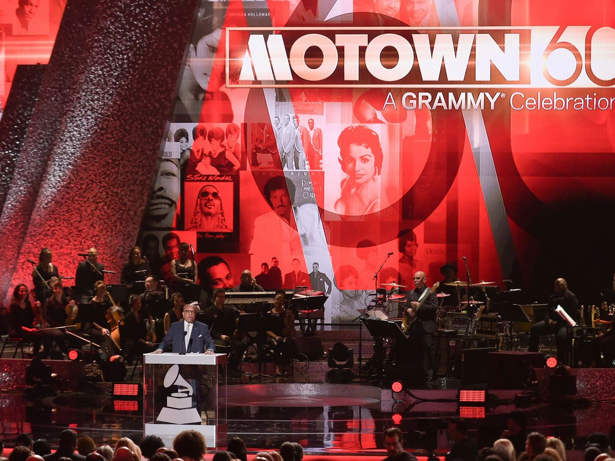 Berry Gordy speaks onstage during Motown 60: A Grammy Celebration at the Microsoft Theatre in Los Angeles (Richard Shotwell/AP)