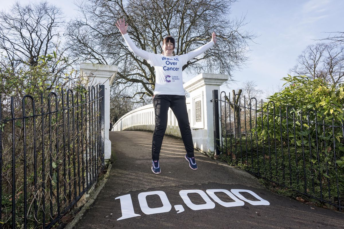 Stafford cancer patient Julie Hill urges people to sign up now to Walk All Over Cancer.