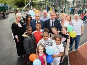 The new playgrounds were unveiled in Heath Town