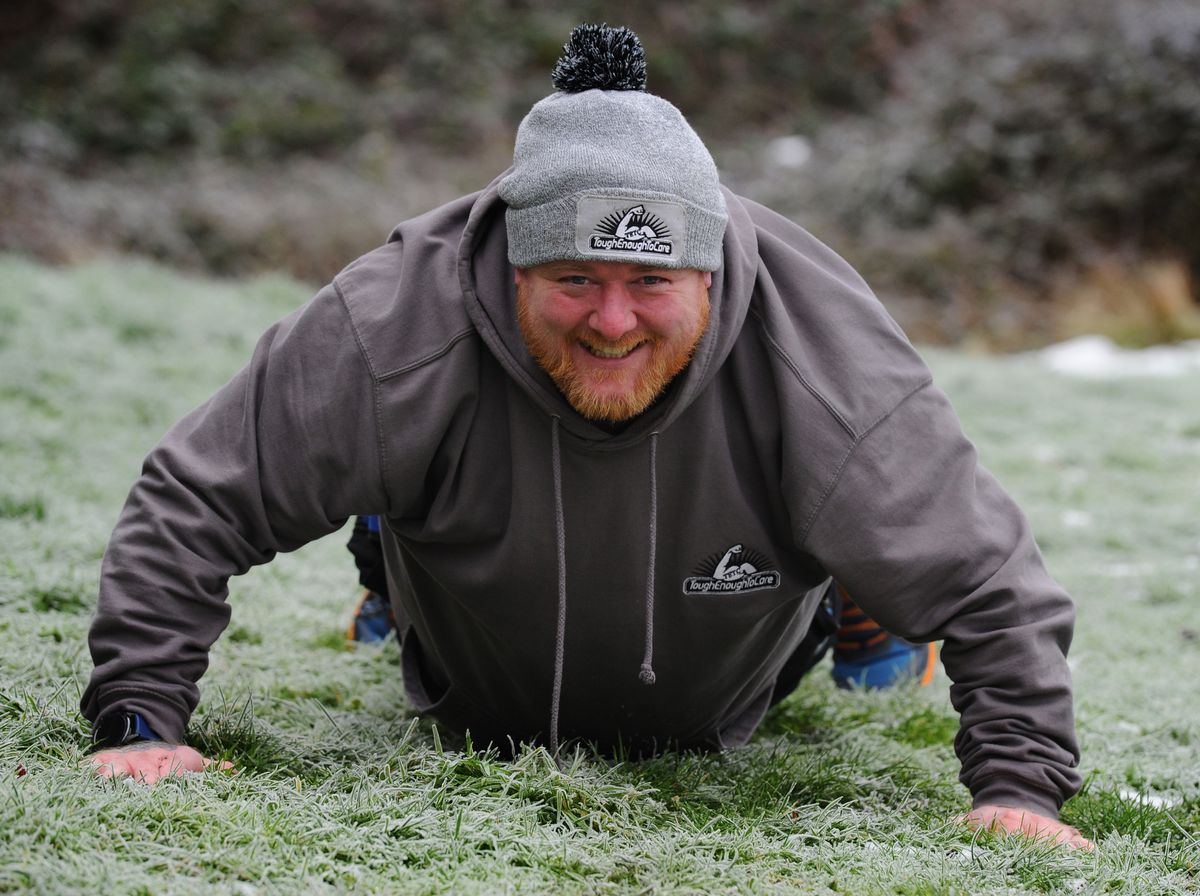 Stuart is doing 84 reps a day of press-ups, sit-ups or burpees