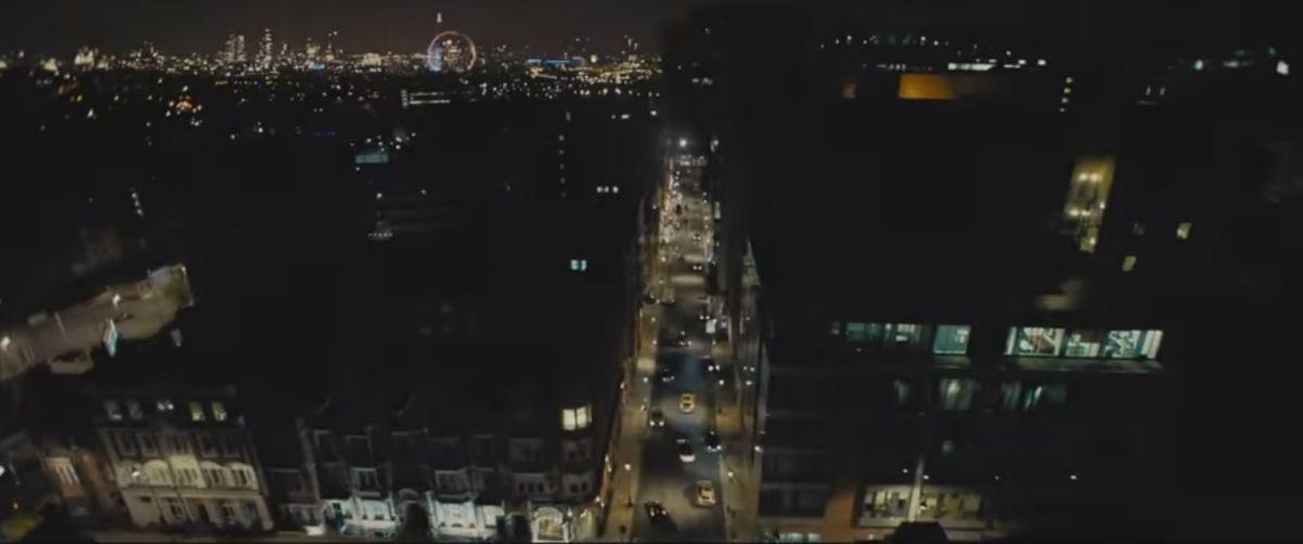 Birmingham with a CGI London Eye in the background