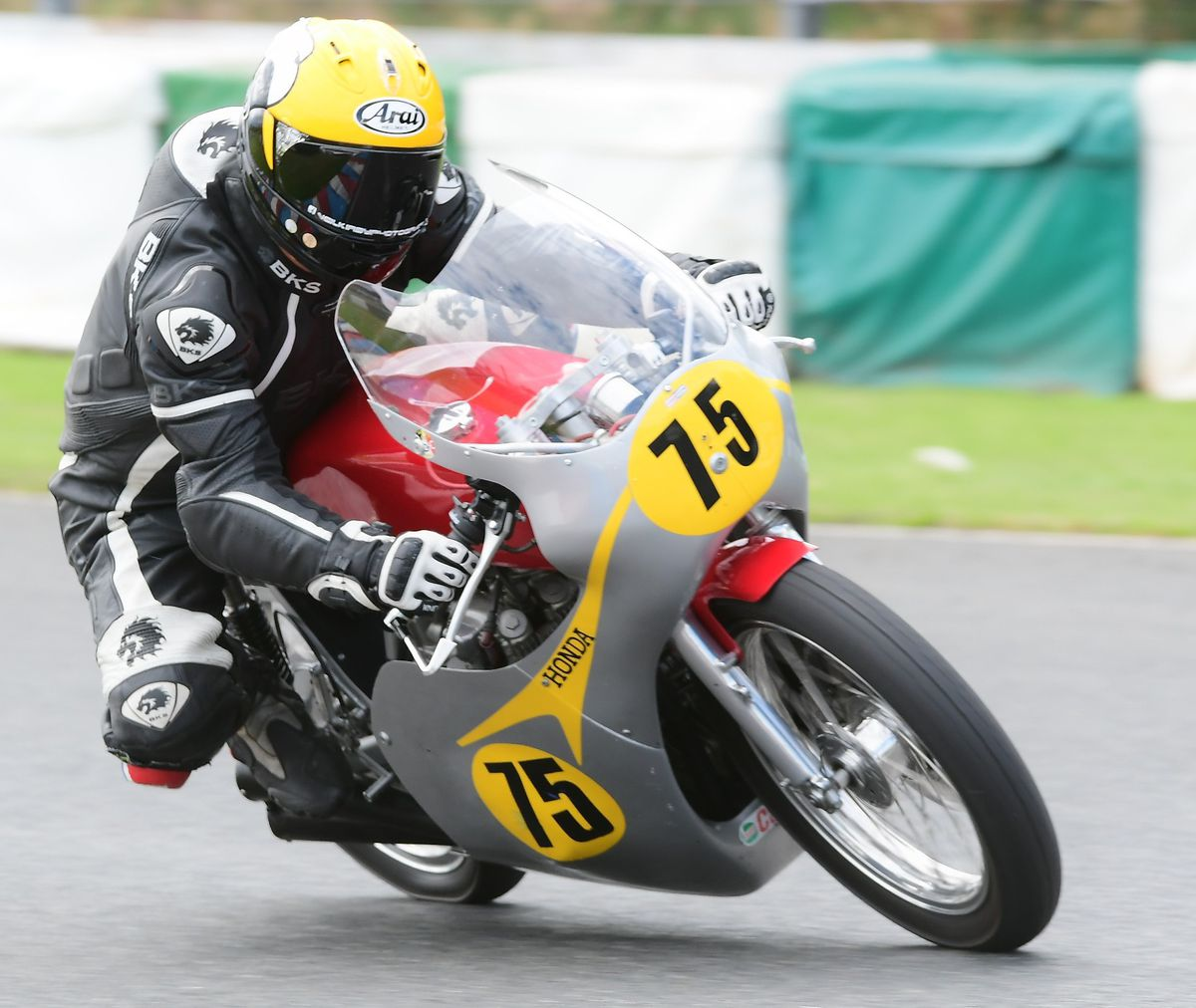 Lloyd in action with EMRA at Mallory Park. Picture: Steve Snelling
