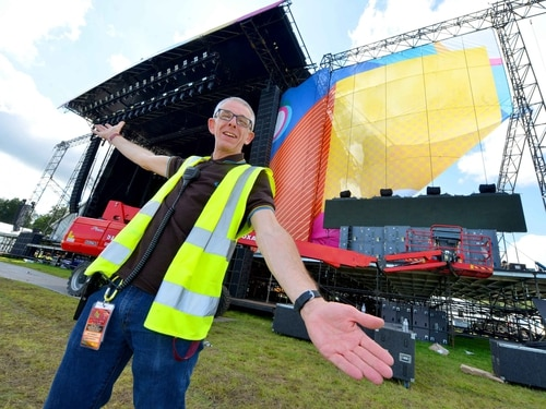 V Festival 2017: Stages set at Weston Park - in pictures