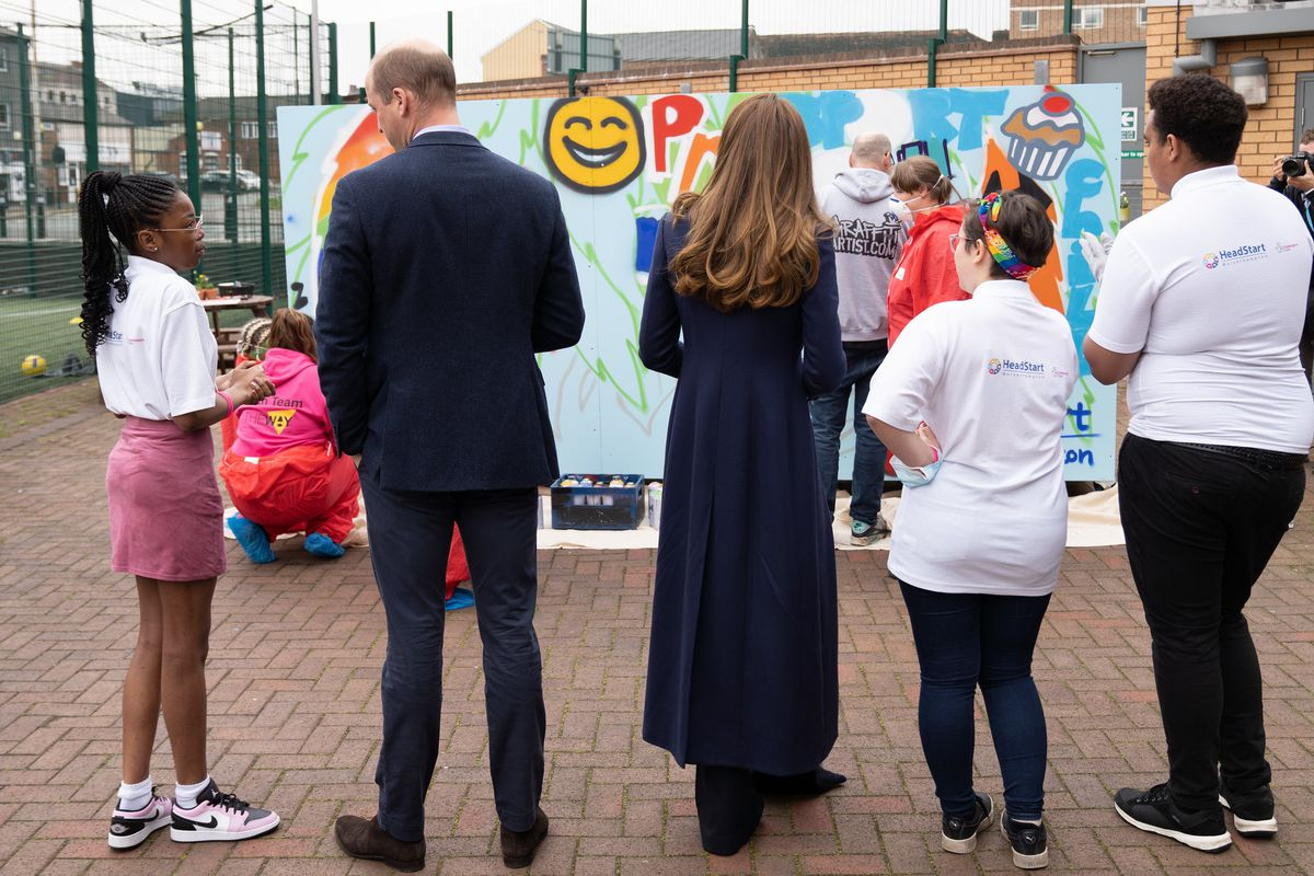 The Duke and Duchess of Cambridge visited The Way in Wolverhampton on Thursday