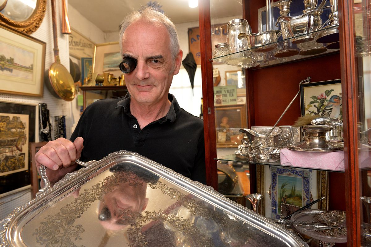 Windmill Antiques in Stafford has appeared on the Antique Road Trip Show on the BBC more than any other antique shop in Staffordshire. Pictured is owner Ian Kettlewell