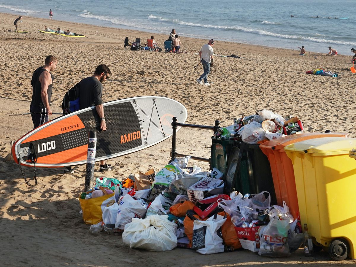Rubbish collected from beaches