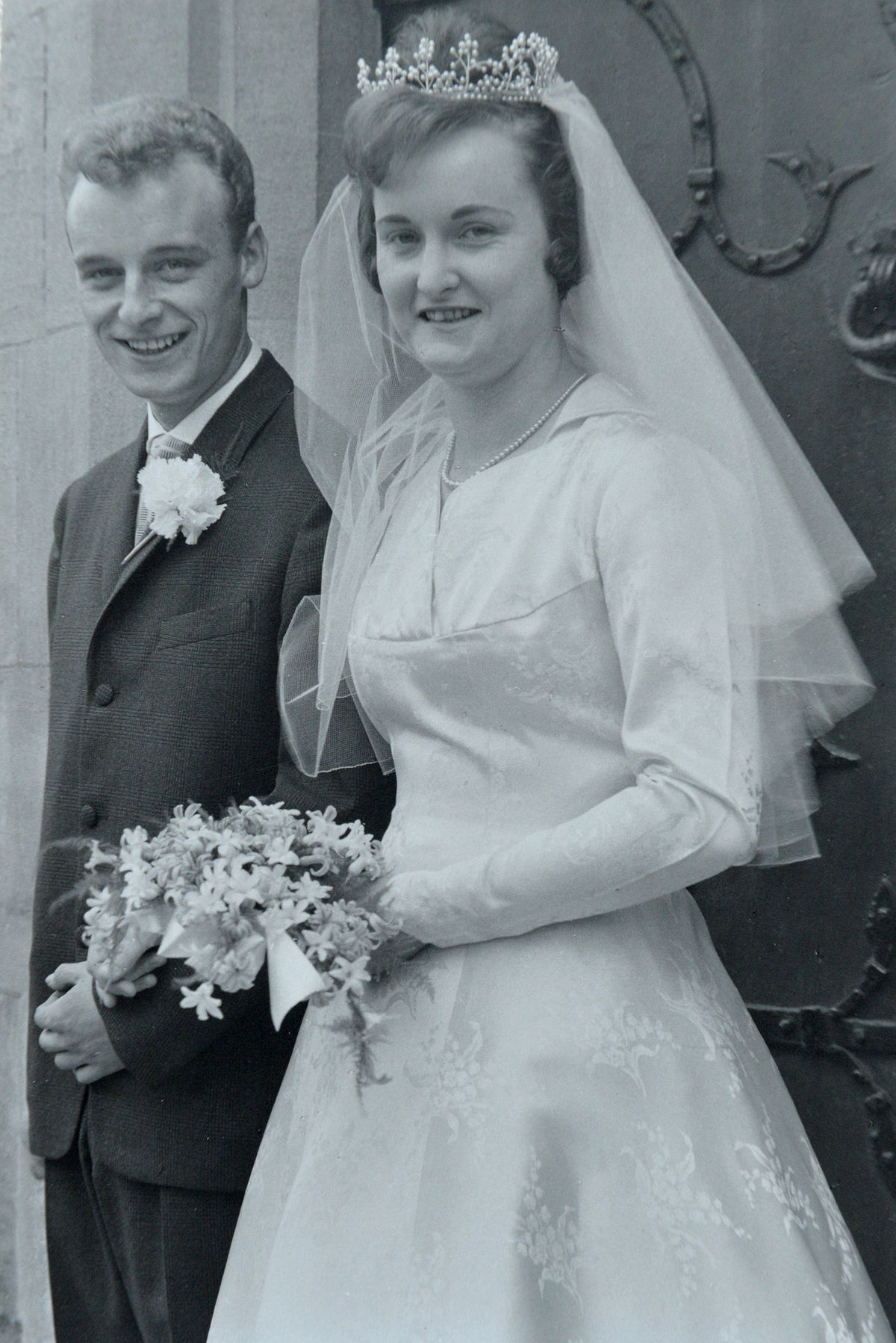 John and Enid White on their wedding day in 1961
