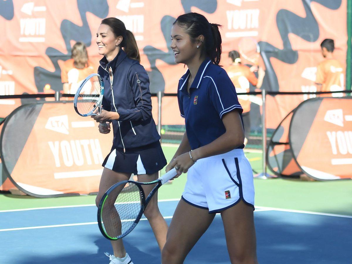 The Duchess of Cambridge with British US Open Champion Emma Raducanu