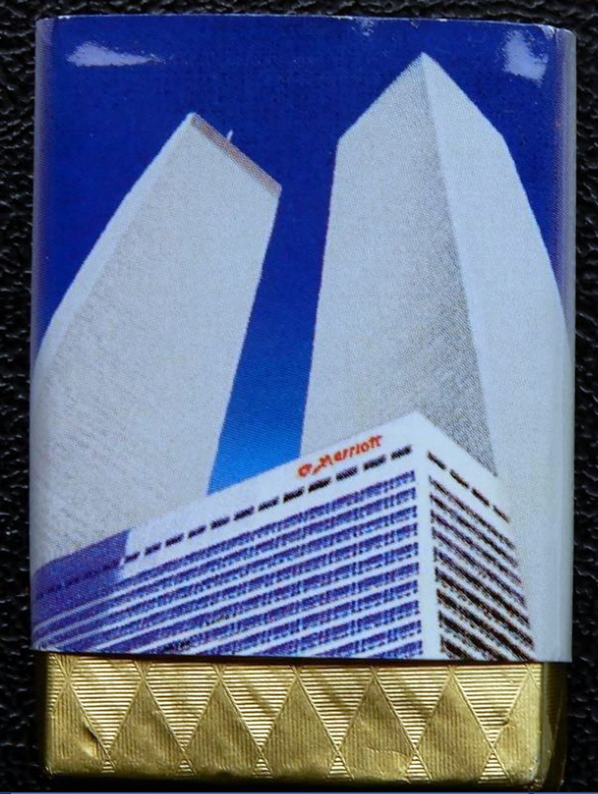 The Cattells' complimentary chocolate left on their pillows at New York's Marriott Hotel in September 2001 – just hours before the hotel was destroyed.
