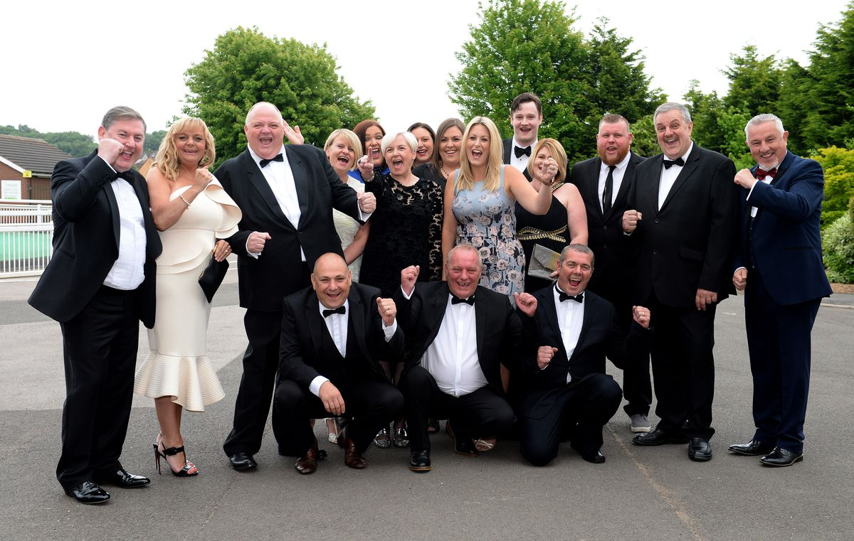 Pallet-Track staff celebrate their success at the awards