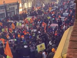 Demonstrators in Birmingham last week