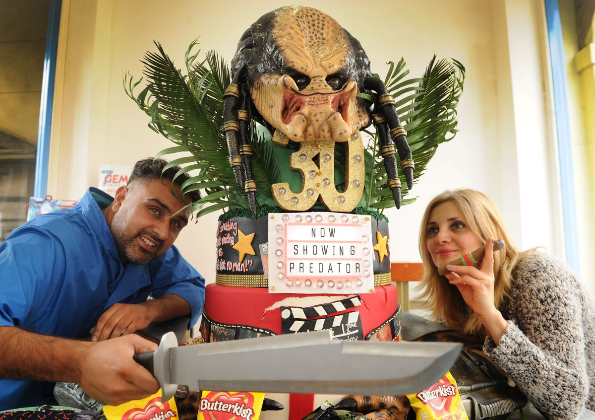 Paz Heer worked with cakemaker Nune Paruryan to design this 30th anniversary cake for the film Predator