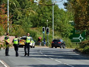 The scene of the crash on the Black Country Route in Bilston