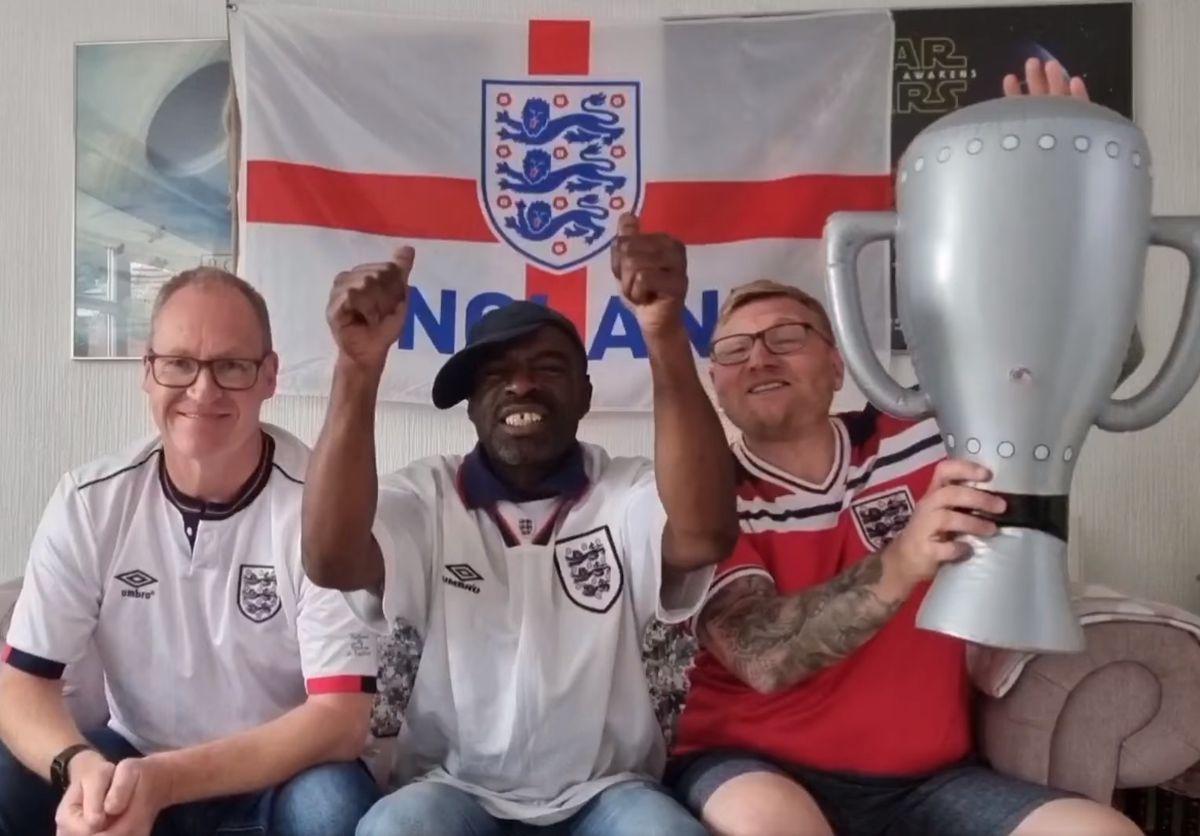 Wolverhampton's dancing binmen released their own version of Three Lions ahead of the final