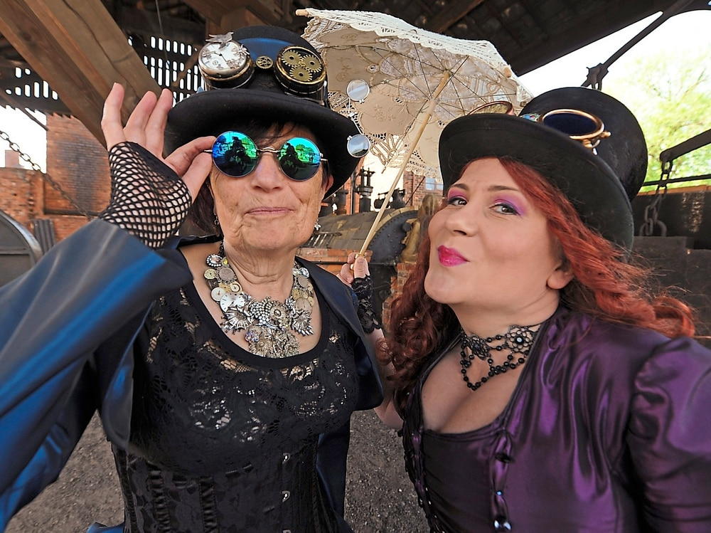 Steampunks ready for Red by Night event at Black Country Living Museum