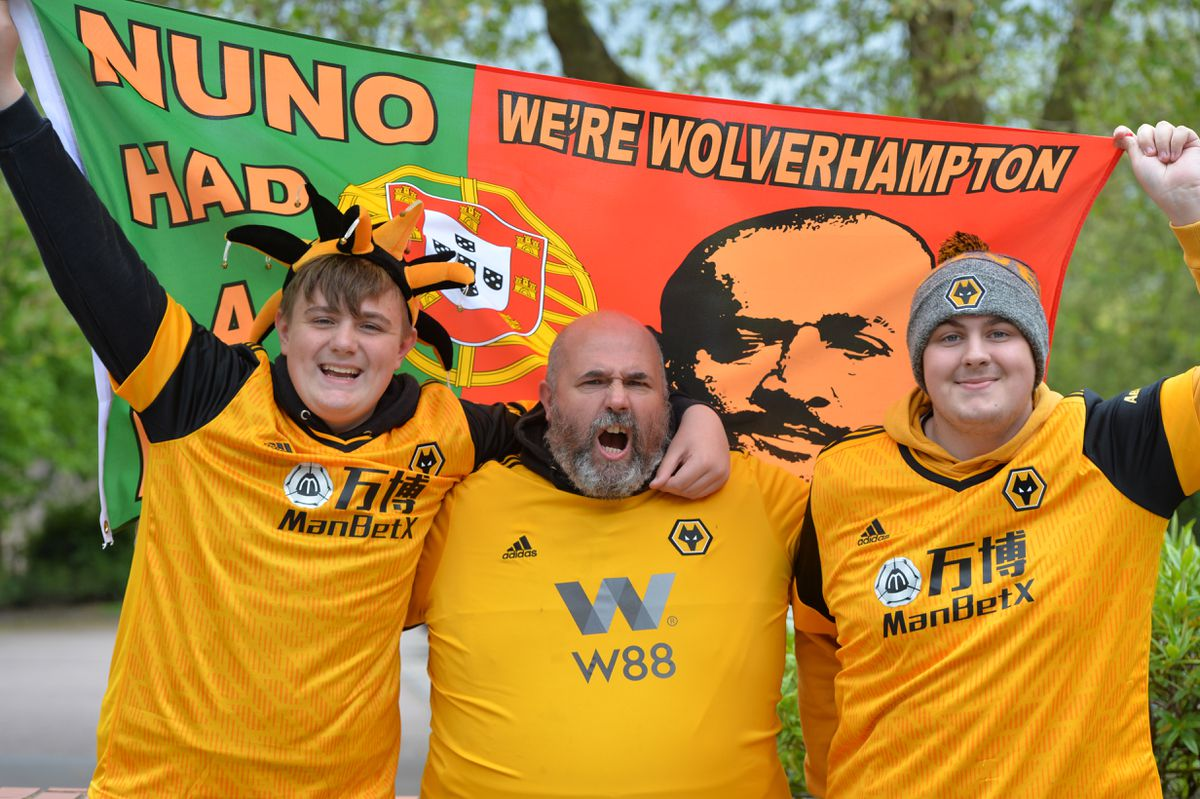 Levi, Craig and Louie Lefevre turn out at the Molineux to show their support for their team