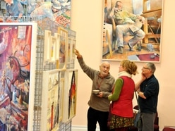 Friends get together for Himley Hall art exhibition
