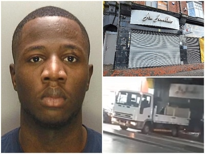 Thug jailed for part in £85k ram-raid on Jai Jewellers in Smethwick