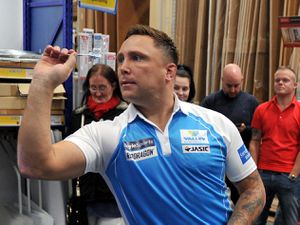 SPORT   ALAN FOGARASY COPYRIGHT EXPRESS & STAR  08/11/19.Darts player Gerwyn Price who has been at Selco in Wolverhampton ahead of the darts competition taking place..