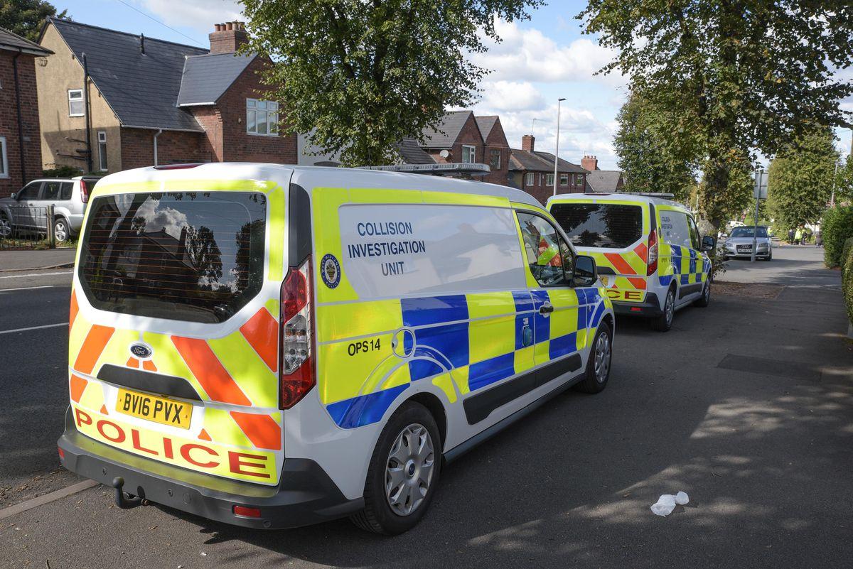 Police at the scene in Oldbury. Photo: SnapperSK