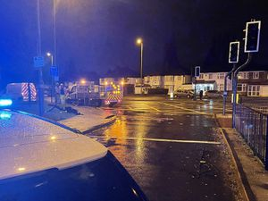Police at the scene in Walsall Road. Photo: @ResponseWMP