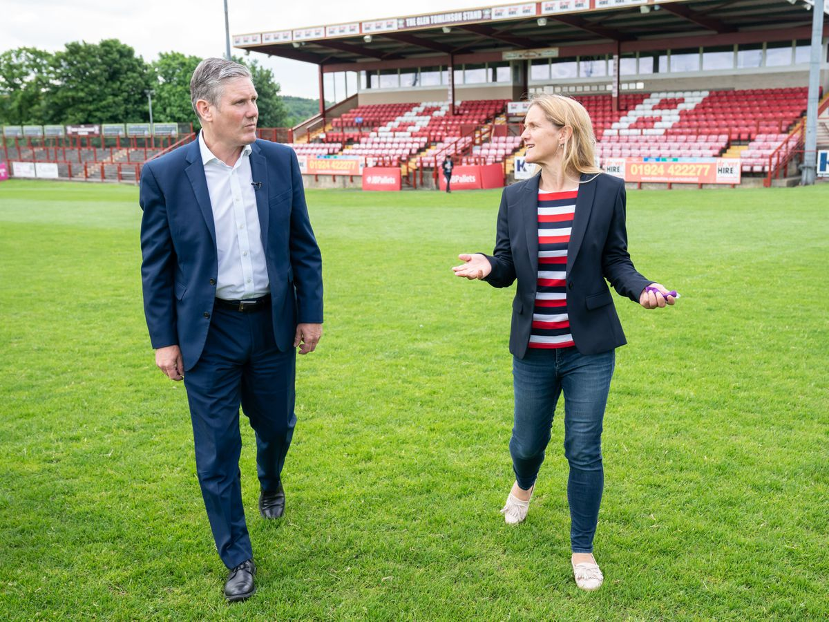Labour Leader Keir Starmer and Labour candidate Kim Leadbeater