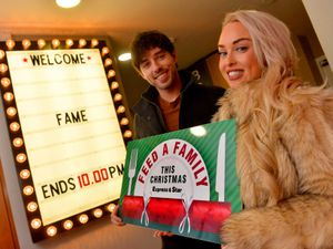 Former Hollyoaks star Jorgie Porter (right) and theatre star Keith Jack back the Express & Star's Feed a Family campaign