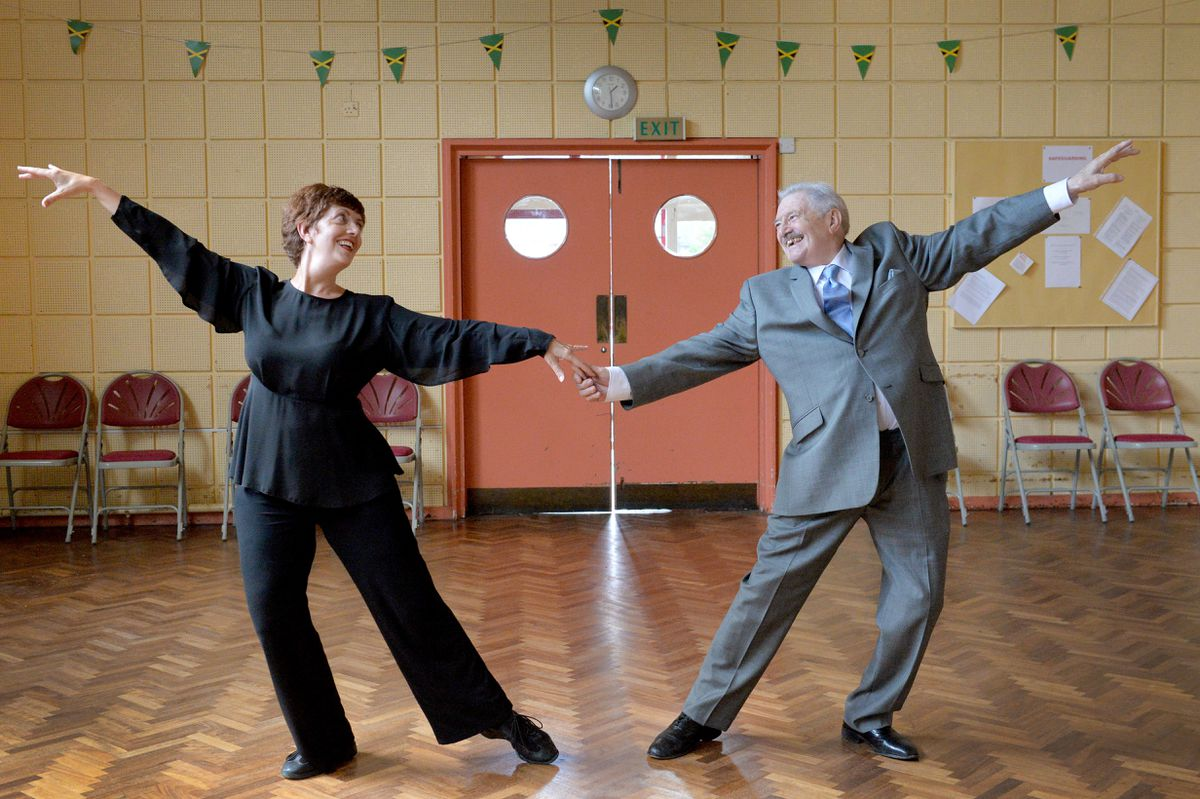 Dance teacher Brian Costley has announced his retirement at the age of 84. He is pictured with his daughter Angela, who is taking over the school