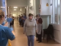 Nurses applaud Covid-19 patient who leaves hospital after 45 days