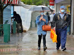 Rain has been battering the region, including here in Wednesfield