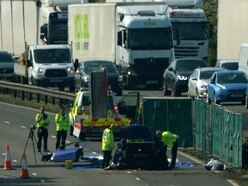M6 road workers tried to help crash victims, trial hears