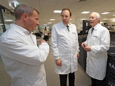 Health Secretary hails new tool for quickly diagnosing deadly infections