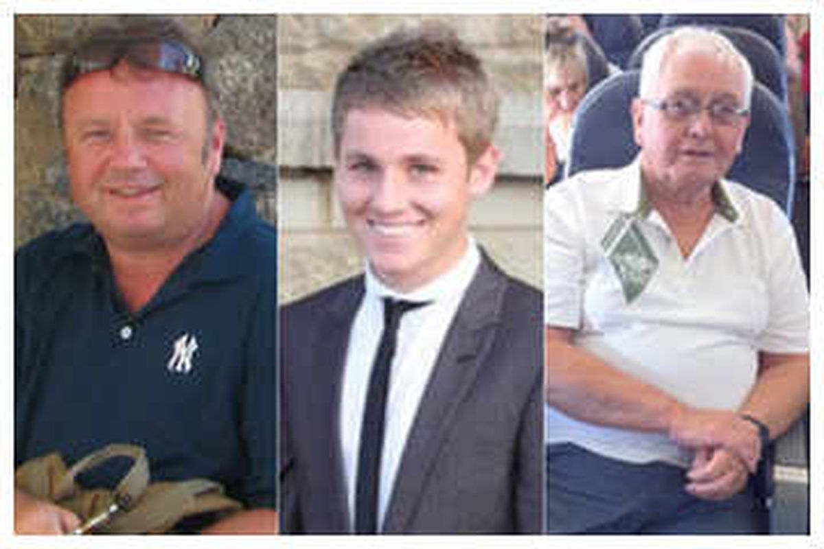 Black Country family members (from left), Adrian Evans, Joel Richards and Patrick Evans, were all killed in the Tunisia beach massacre