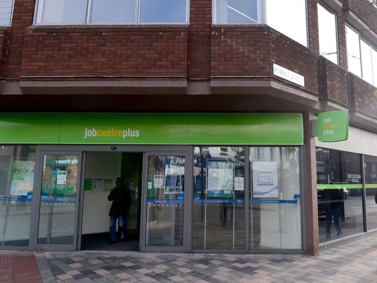 WOLVERHAMPTON  ALAN FOGARASY COPYRIGHT EXPRESS & STAR  23/01/19.THe Job Centre in Wolverhampton City Centre on the corner of Queen Street and Market Street.