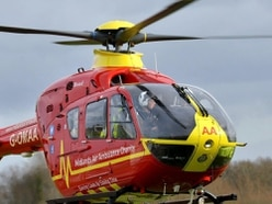 Air ambulance spotted at Alton Towers after visitor falls ill
