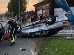 Two women charged after car crash outside Tesco Express