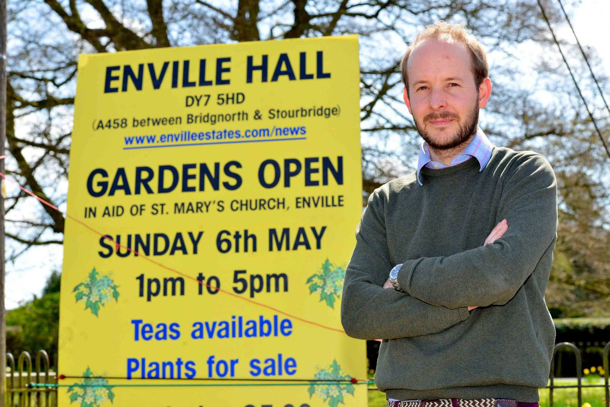 Pics of George Williams and Enville Hall (his family home) will be opening the gardens, pics of him to publicise that. Him and his dogs on some photos: Puppy: Scout, then Lunar and Jaeger