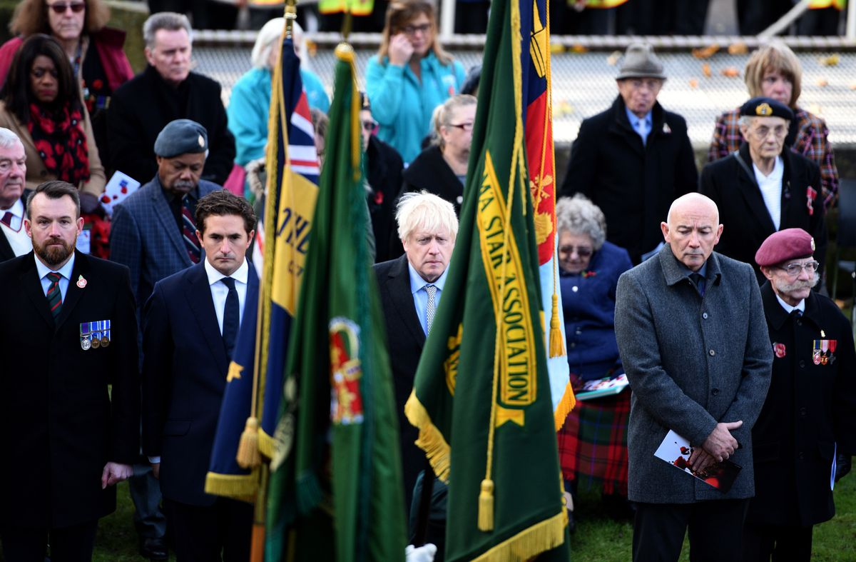 Mr Johnson attended the Remembrance Day service in Wolverhampton city centre