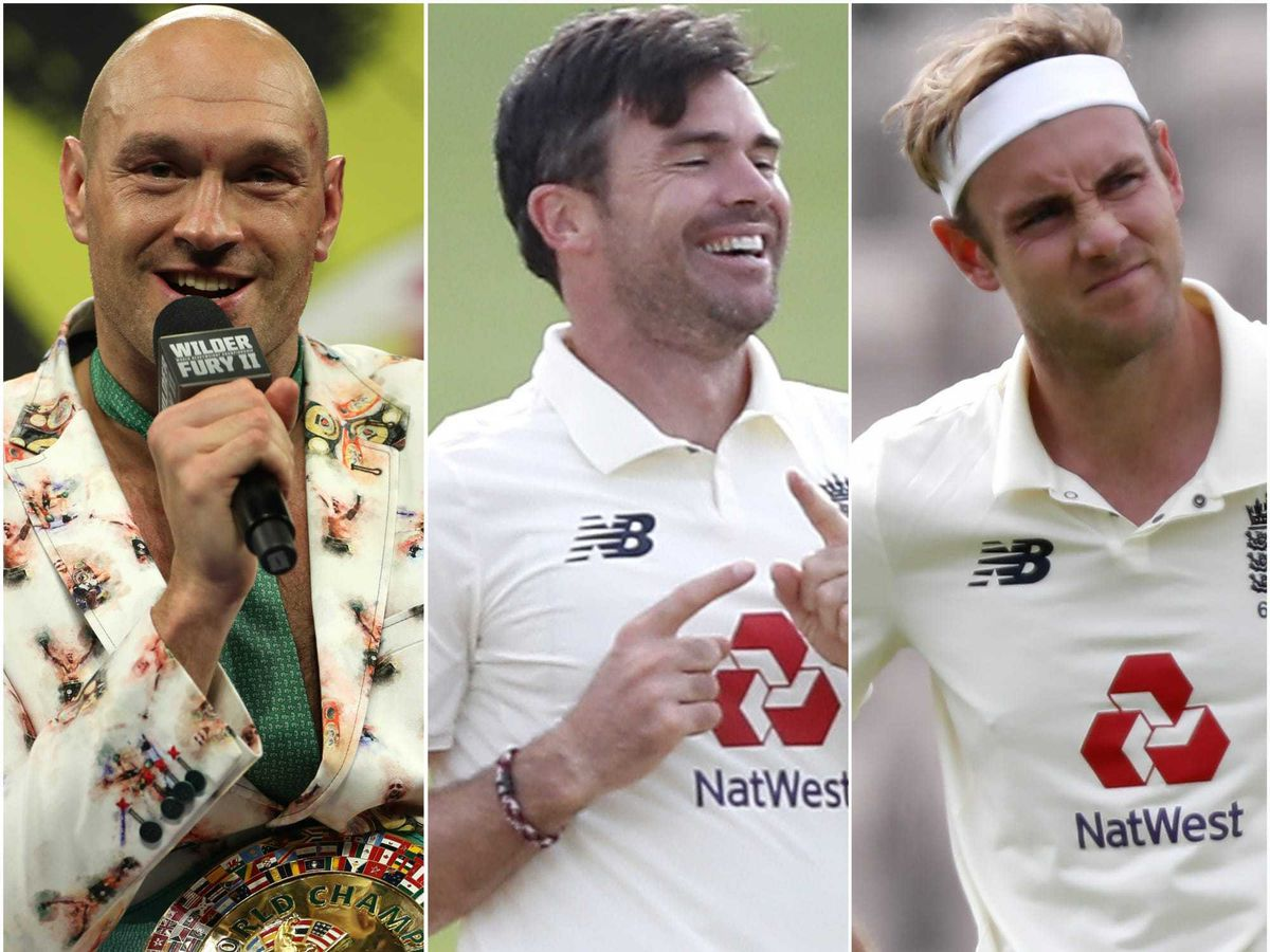 Tyson Fury, James Anderson and Stuart Broad