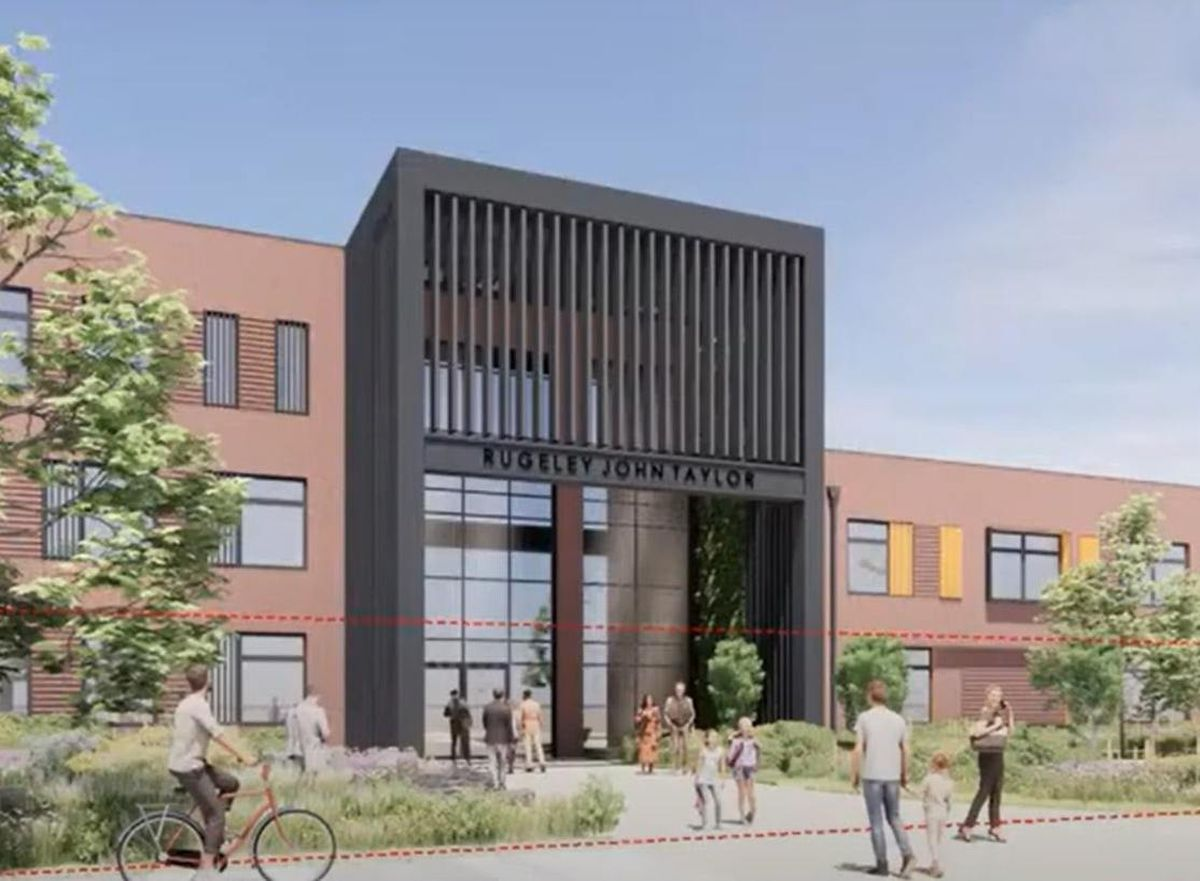 An image of the proposed school at the former Rugeley Power Station site